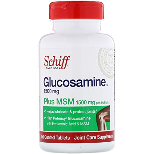 Schiff Glucosamine Plus MSM -- 1500 mg - 150 Coated Tablets