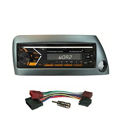 AUTORADIO mit USB SD MP3 Bluetooth UKW RDS kompatibel mit Ford KA 1996>2008/ Blende Silber