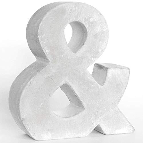 Alenio Individuelle Beton Deko Buchstaben Ihr Name in 3D Zement Home DIY Schriftzug Love Wohnzimmer Dekobuchstaben H15cm (&)
