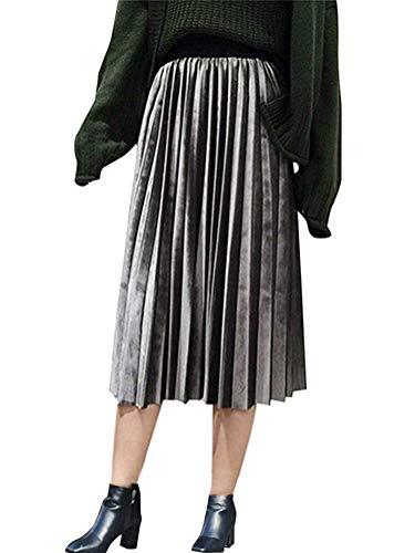Faldas Plisadas Señoras De Lang Chnürsenkel Clásico Raso Una Línea De Falda Larga Playa Alta De La Cintura Falda Plisada Falda De Una Línea Faldas Falda De Las Muchachas del Verano Elegante De La