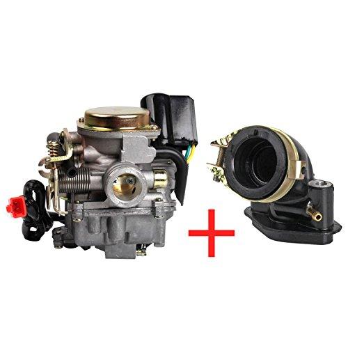 Kefflum Roller Vergaser 18mm Ansaugstutzen für Rex RS 400 / RS 450 / RS 460 /GY6 50cc E-Choke