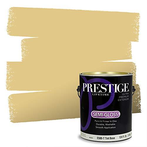 Prestige Paints Exterior Paint and Primer In One, 1-Gallon, Semi-Gloss, Comparable Match of Benjamin Moore* Da Vinci'S Canvas*
