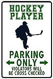 PóSter Y Estampados 40x60cm Sin Marco Hockey Player Parking Only Fny Sign 、 Decoración de Dormitorio Decoración de habitación de Oficina Regalo