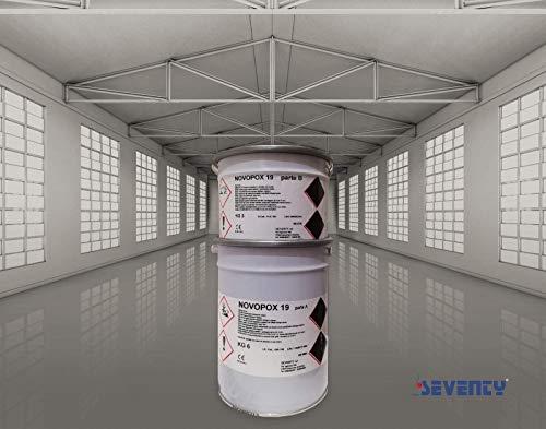 NOVOPOX 19 KG 9 - Resina Epossidica - Colore paglierino trasparente - Pavimenti in resina - Senza solvente - Colorabile - Legante bicomponente A+B