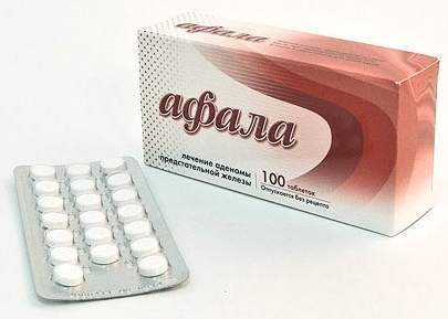 Afala tablets №100 treatment of prostatitis and benign prostatic hyperplasia