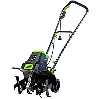 Earthwise TC70125 12.5-Amp 16-Inch Corded Electric Tiller/Cultivator, Green