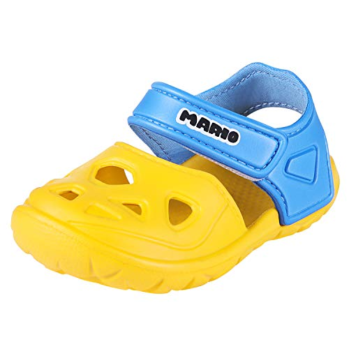 Yellow Toddler Lightweight Closed Toe Sandals Breathable Beach Shoes Non-Slip Clog for Baby Boys Girls 8 M