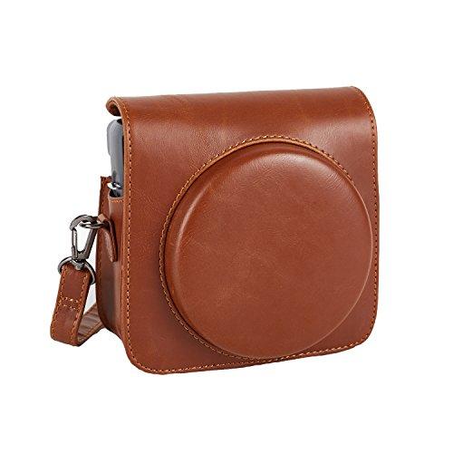 Phetium Schutztasche Kompatibel mit Instax SQ 6 Ex D Sofortbildkamera, Kameratasche mit Weichem PU Leder Material und Schulterriemen (Braun)