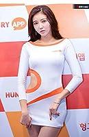 高級レースクイーンコスチュームRQ 橙 ・白コスプレ衣装