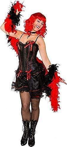 Fancy Me Damen Sexy Schwarzmädchen Saloon Burleske T er West Henne Do Abend Party Kostüm Kleid Outfit