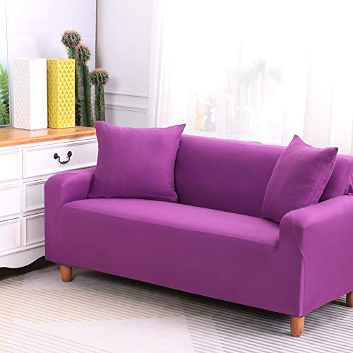 HXTSWGS Slipcover Furniture Protector,Stretch sofa cover, stretch fabric, furniture protection cover-Purple 1_145-185cm