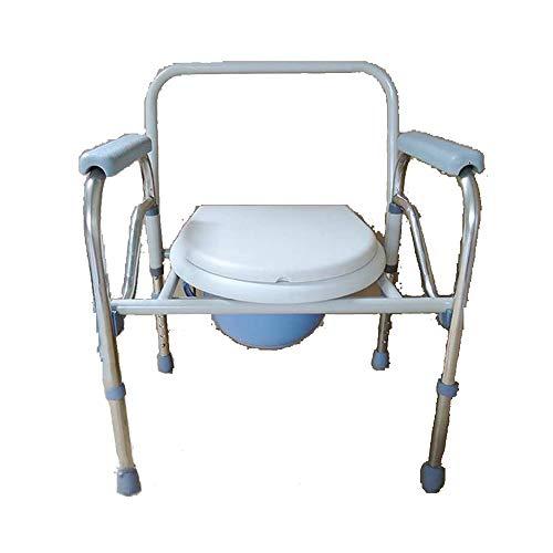 HRD Toilettenstuhl Klappbare Toilettenstühle Eimer Leicht Herauszuziehen Nachtstuhl Höhenverstellbar, Für Schwangere/Alten Mann