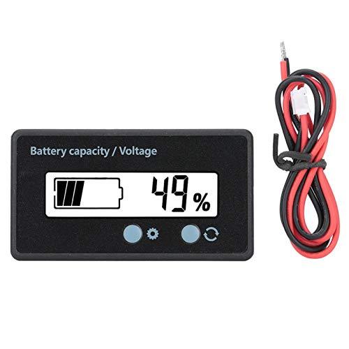 Eficiente 12-84V Equipado con un interruptor Pantalla de capacidad de la batería Indicador de capacidad de la batería Superficie de película de PVC Conozca(White light)