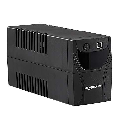Amazon Basics – Unterbrechungsfreie Stromversorgung, 850 VA, 4 IEC-Steckdosen, mit Überspannungsschutz