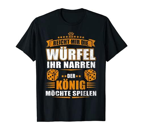 Herren Reicht mir der Würfel, der König will spielen! - Geschenk T-Shirt