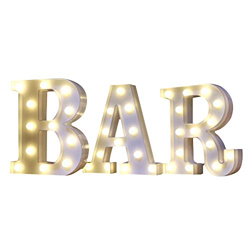 Mystery&Melody BAR LED Light Alphabet Letter luces LED Letters Light Lámpara decorativa