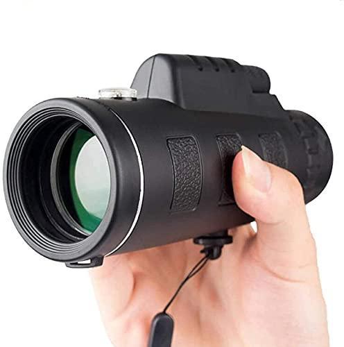 JeeKoudy Telescopio monocular para teléfono móvil, monocular Inteligente portátil 10x52, Resistente al Agua para observación de Aves, Turismo, monocular para Adultos
