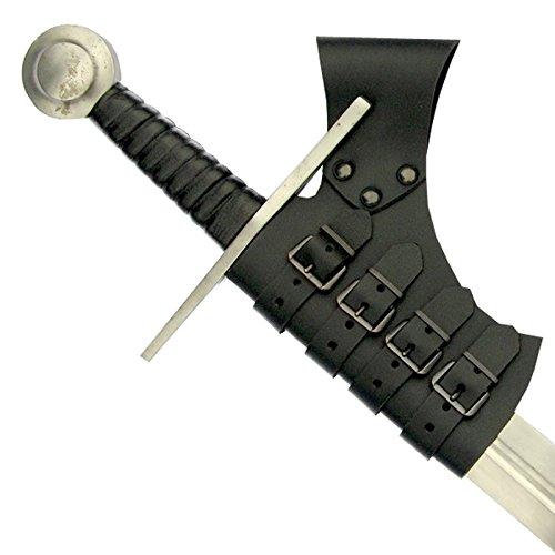 Grandeur Nature - Support de Ceinture pour Epée - Cuir Noir