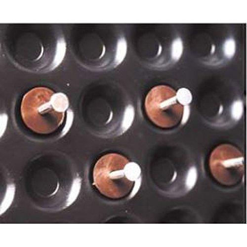 PM-Montageknöpfe mit Stahlnägeln passend für die 8 mm hohe Noppenbahn, Größe: 3,5mm x 45mm, Inhalt: 100 Scheiben, 100 Nägel