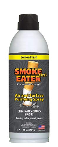 Smoke Eater Pro 16 oz Commercial Strength Fabric Odor Eliminator - Eradicates the Toughest Odors from any Apartment, Airbnb, Car (Rideshare) - No More Smoke or Bad Food Smells Left Behind.