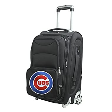 Denco MLB Chicago Cubs Carry-On Luggage, Black, 21  x 14  x 11