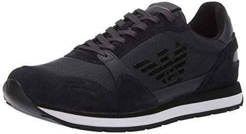 Emporio Armani Herren Lace-Up Sneaker Turnschuh, Navy, 39 EU
