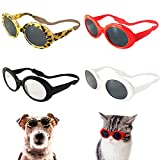 Retro Oval Small Dogs Cats Eye Wear Party Favors Pet Sunglasses Set...