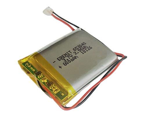 EREMIT Lithium Polymer LiPo Batterie Akku 800mAh 3.7 V USV RC 1S Powerbank 653040 PCB BMS 12