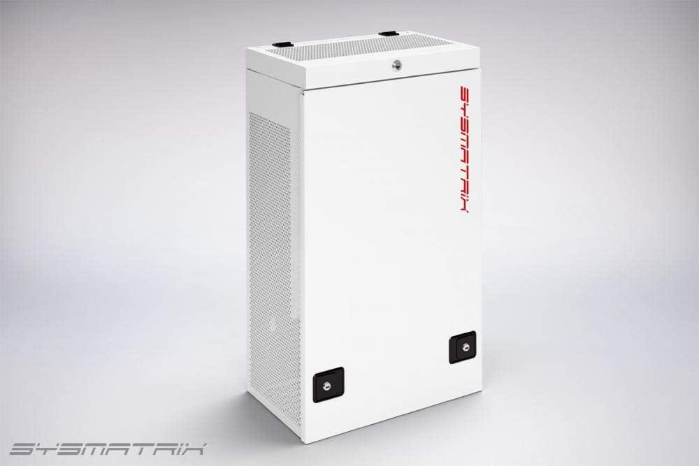Sysracks 6U 35 Inch Deep Wall Mount Server Rack Cabinet Vertical Server Blade Rack Unique Compact Solution Fits Server Equipment Light Gray WS