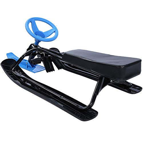 TRYSHA Slee Racer, Sport Unisex Youth sneeuw Racer Winter Funsport Ski Scooter Sled for Kids Outdoor Sports