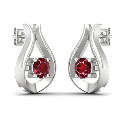 10K White Gold 0.33-0.43 CTTW Natural Diamond/Gemstone Earring Brilliant Cut for Womens Perfect Gift