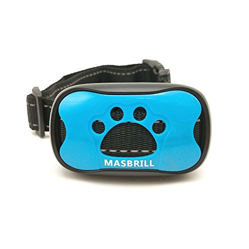 MASBRILL Dog Bark Collars - Effective Anti Barking No Shock Pet Dog Training Collar Stop Barking Deterrent Device Humane Vibration Beep No Barks Collar for Small, Medium Large Dogs 15-110lbs