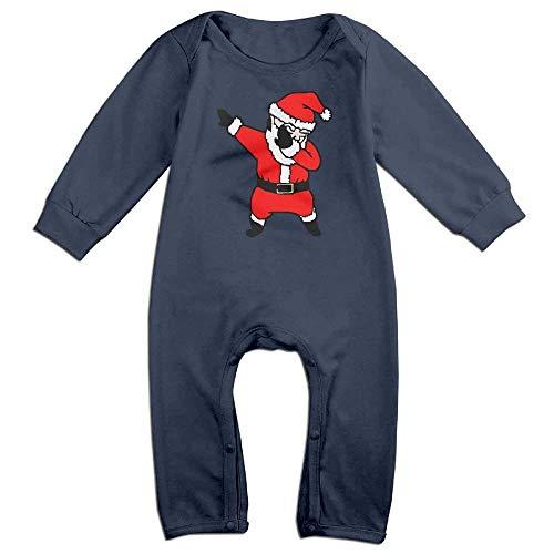 TOPDIY Dabbing Santa Christmas Newborn Baby Bodysuit