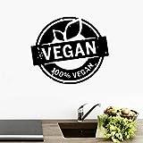adesivo murale decal carta parati natura vegetale flora vita sana arte vegan energia vinile cucina arredamento camera 65x57cm