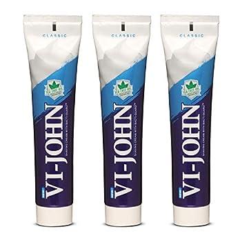 VI-JOHN Shaving Cream Classic 125 Gm (Pack of 3)