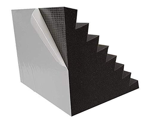 Bass Trap Performance Selbstklebend Absorber Lamellen (Pyramiden) Profil (Ca. 50x30x30cm)