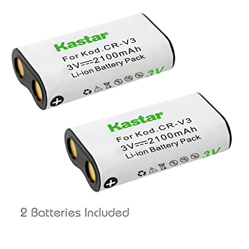 Kastar Battery 2-Pack for CR-V3, Canon PowerShot A60 70 75 300, Nikon Coolpix 600 700 800 950 990 2100 2200 3100 3200, Olympus, Kodak, Sanyo, Pentax Digibino, Casion, Samsung Dig Max