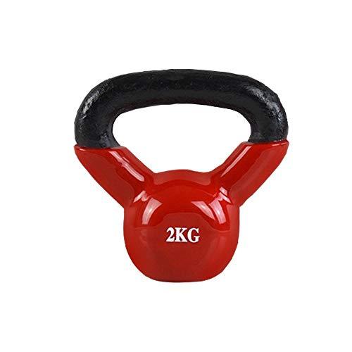 FWQAZ Kettlebells, Kugelhantel aus Gusseisen mit Neoprenbeschichtung 2 kg Schadstoffgeprüft Schwunghantel Kugelgewicht