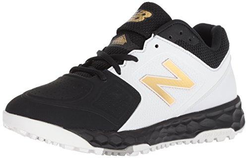 New Balance Women's Velo V1 Turf Softball Shoe, Black/White, 8 B US