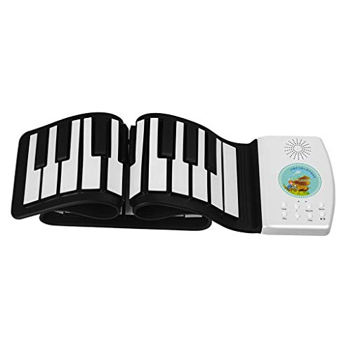 Lowest Price! AckfulPortable Roll Up Piano Keyboard Portable with Sustain Pedal White,49 Keys,61 Key...