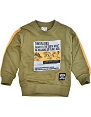 [BlueMart] 恐竜 プリント 裏毛 長袖 トレーナー スウェット キッズ 男の子 子供服