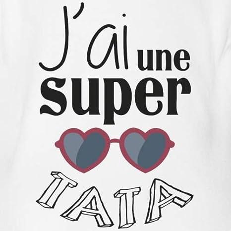 Spreadshirt JAi Une Super Tata Body B/éb/é Bio Manches Courtes