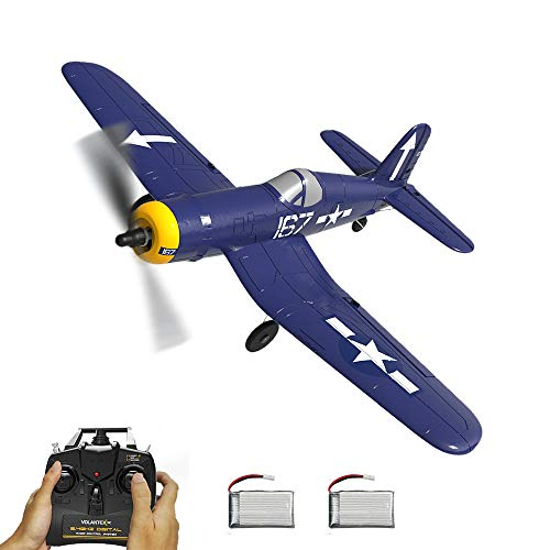 F4U RC Airplane 4CH Remote Controlled Warplane Ready to Fly Plane with Xpilot Stabilization System One Key Aerobatic and One-Key U-Turn Function 2 Batteries for Beginners Trainer Gift