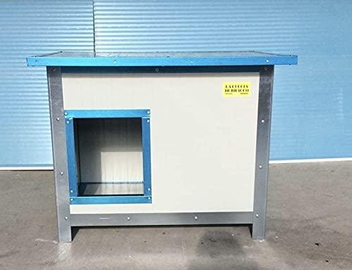 Cuccia coibentata Piccola per Cani da Esterno/Interno (L80 p55 h60)