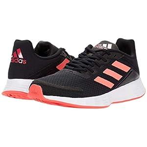 adidas unisex child Duramo Sl Running Shoe, Black/Signal Pink/Team Royal Blue, 12 Little Kid US