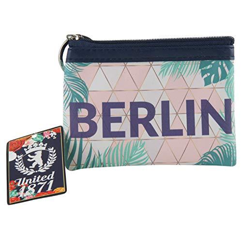Berlin Mini-Etui | Kleine Schminktasche mit Reißverschluss & Schlüsselring | Prisma | Souvenir