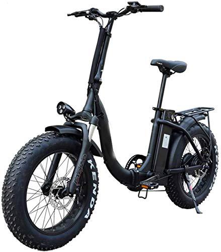 Bici electrica, Adulto eléctrica plegable de 20 pulgadas de bicicletas Fat Tire Bicicleta eléctrica con extraíble de iones de litio 10.4ah Paquete 500w Ciudad E-bici campo de prácticas de 31-60 Kilóme