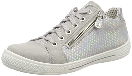 Superfit Mädchen Tensy Sneaker, Grau (Hellgrau 25), 27 EU