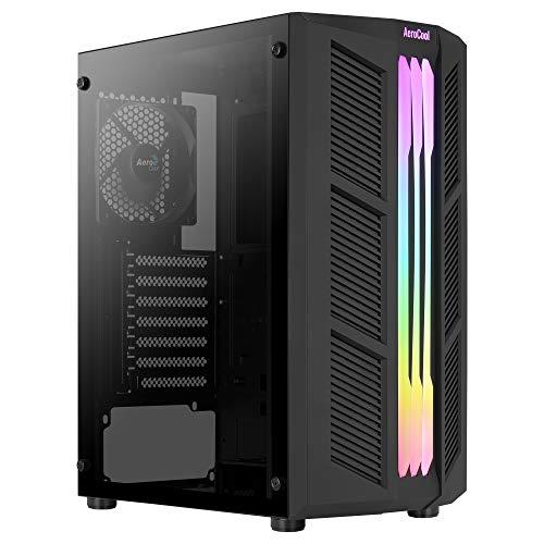 Aerocool Prime, Caja PC ATX, Front Triple ARGB,Cristal Templado, Ventilador 12cm