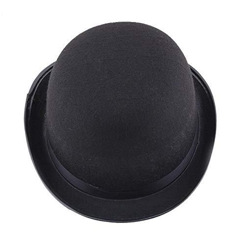 IUSGAND Nuevo Sombrero de Magia Negra Sombrero de Caballero de Fieltro de Viento britnico Fiesta de Vacaciones Rendimiento Sombrero de Jazz Accesorios de Halloween Comn para Hombres y Mujeres 58cm